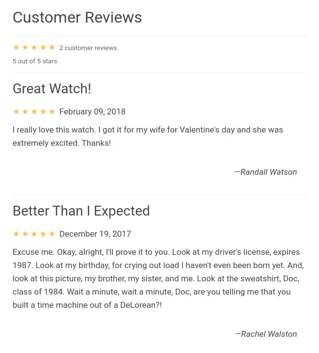 How to display 5 star customer reviews on your website