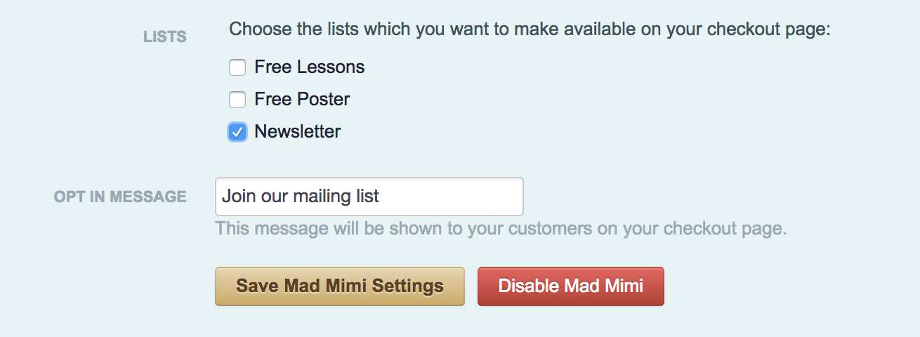 Add Customers To Your Mailing List