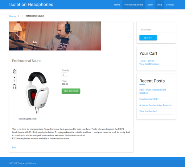 minimal wordpress theme with a focus on search engine optimization
